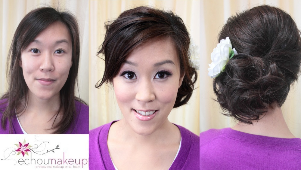 Weddingmake Uphairtrialbefore Afterchristine Echou Makeup