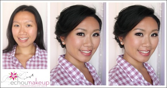 wedding makeup trialbefore and after makeup & hair trial Mary