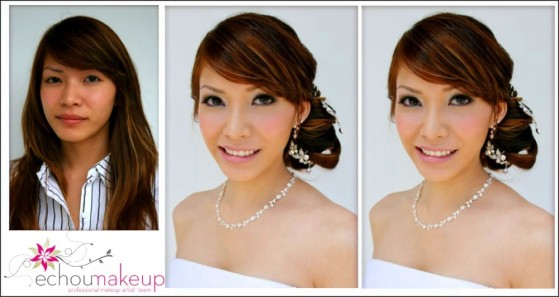 wedding trial  before&afyer makeup6