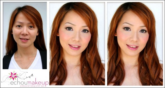 wedding trial before & after makeup5