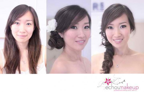 wedding trial - before&after makeup18