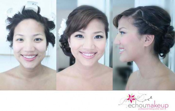 wedding trial - before&after makeup23