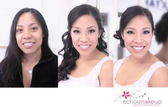 wedding trial - before&after makeup24