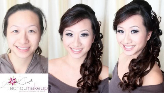 wedding trial - before&after makeup39