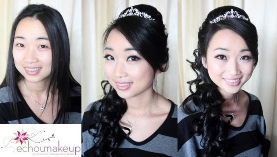 wedding trial - before&after makeup47